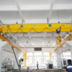 Cheap electric single girder overhead travelling crane for sale