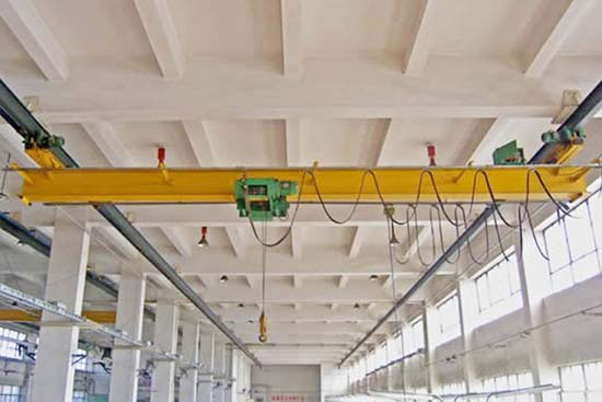 workshop single girder low headroom overhead crane